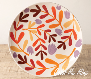Encino Fall Floral Charger