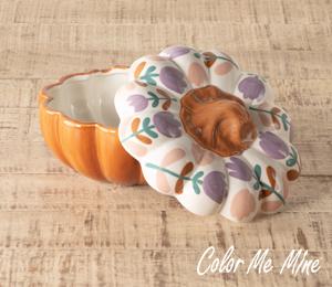 Encino Floral Pumpkin Box