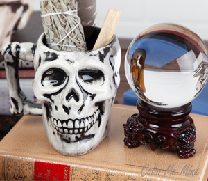 Encino Antiqued Skull Mug