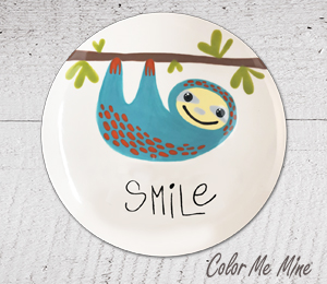 Encino Sloth Smile Plate