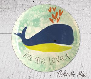 Encino Whale Love Plate