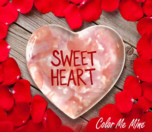 Encino Candy Heart Plate