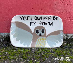 Encino Owl Plate