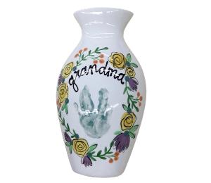 Encino Floral Handprint Vase