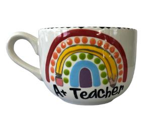 Encino Polka Dot Rainbow Mug